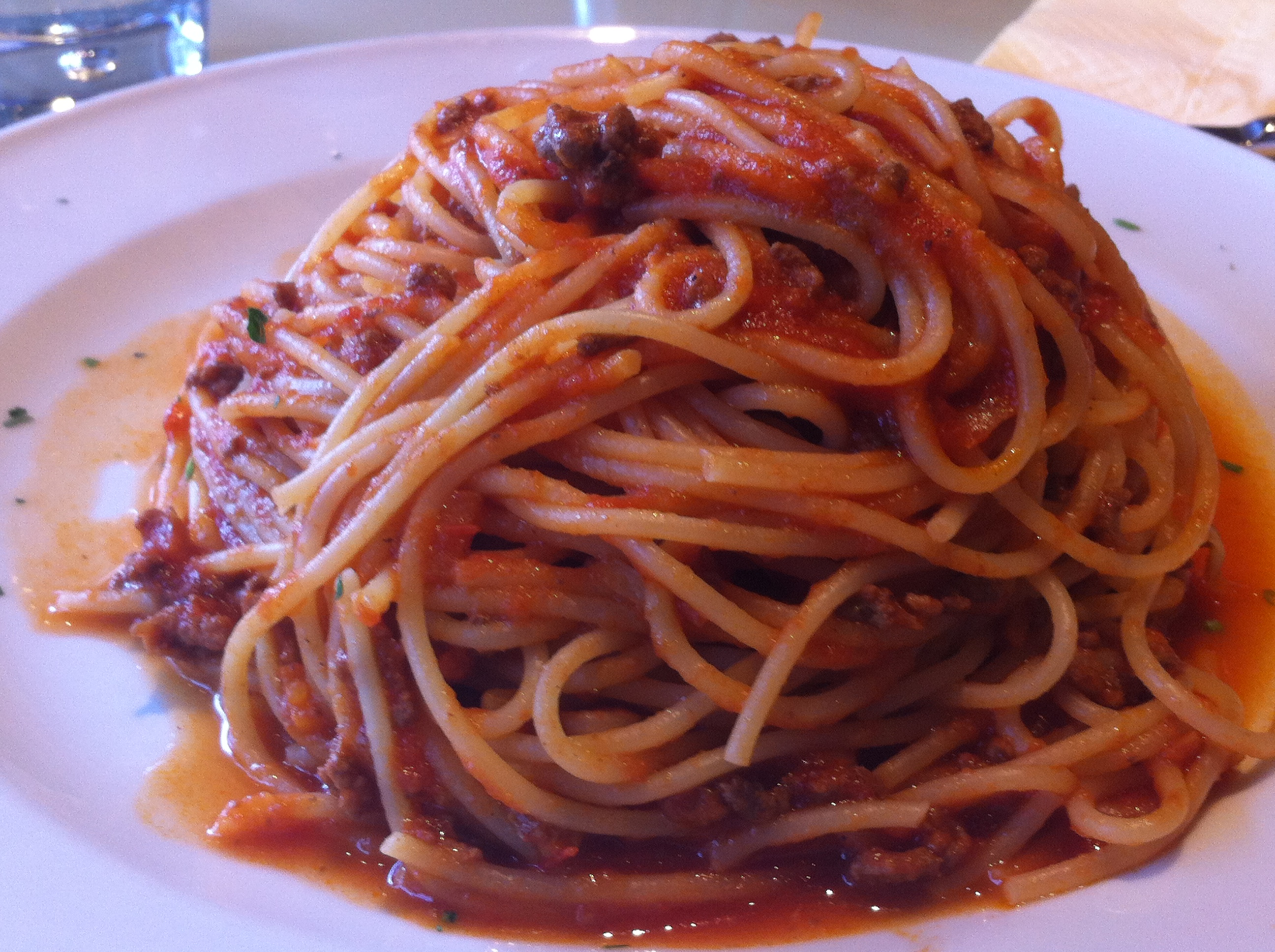 how to cook minced meat and spaghetti