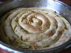 Twisted zucchini pie from Macedonia