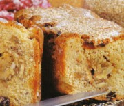 Cake with sesame seed paste and orange