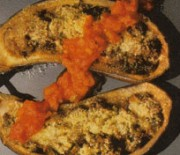 Eggplant with tomato and nut sauce