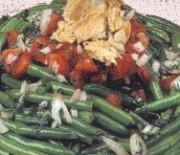 Green bean salad with tuna