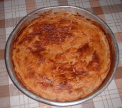 Cheese and yoghurt pie with no eggs