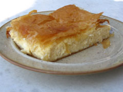 Cheese Pie with filo crust