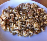 Lentils with orzo